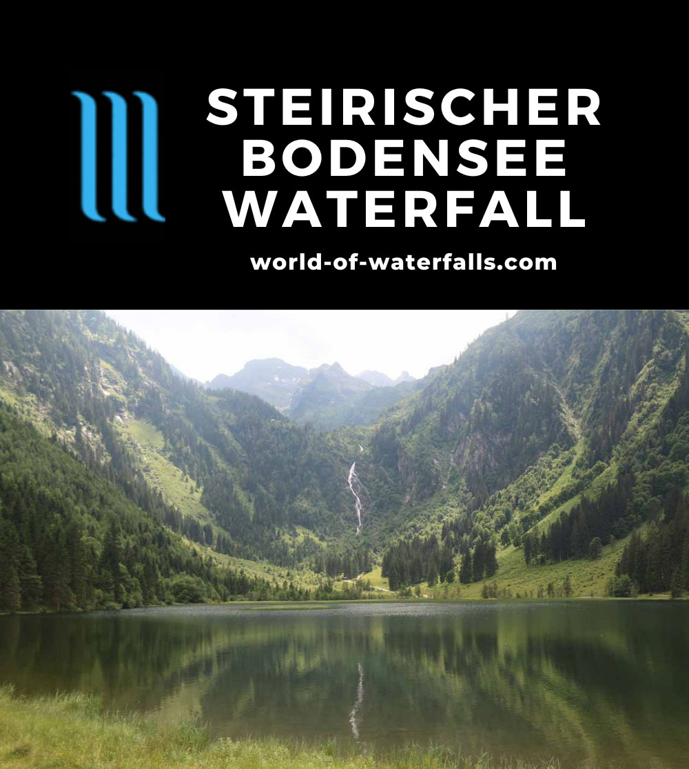 Steirischer_Bodensee_051_07032018 - Steirischer Bodensee Waterfall across the scenic lake Bodensee near Schladming, Austria