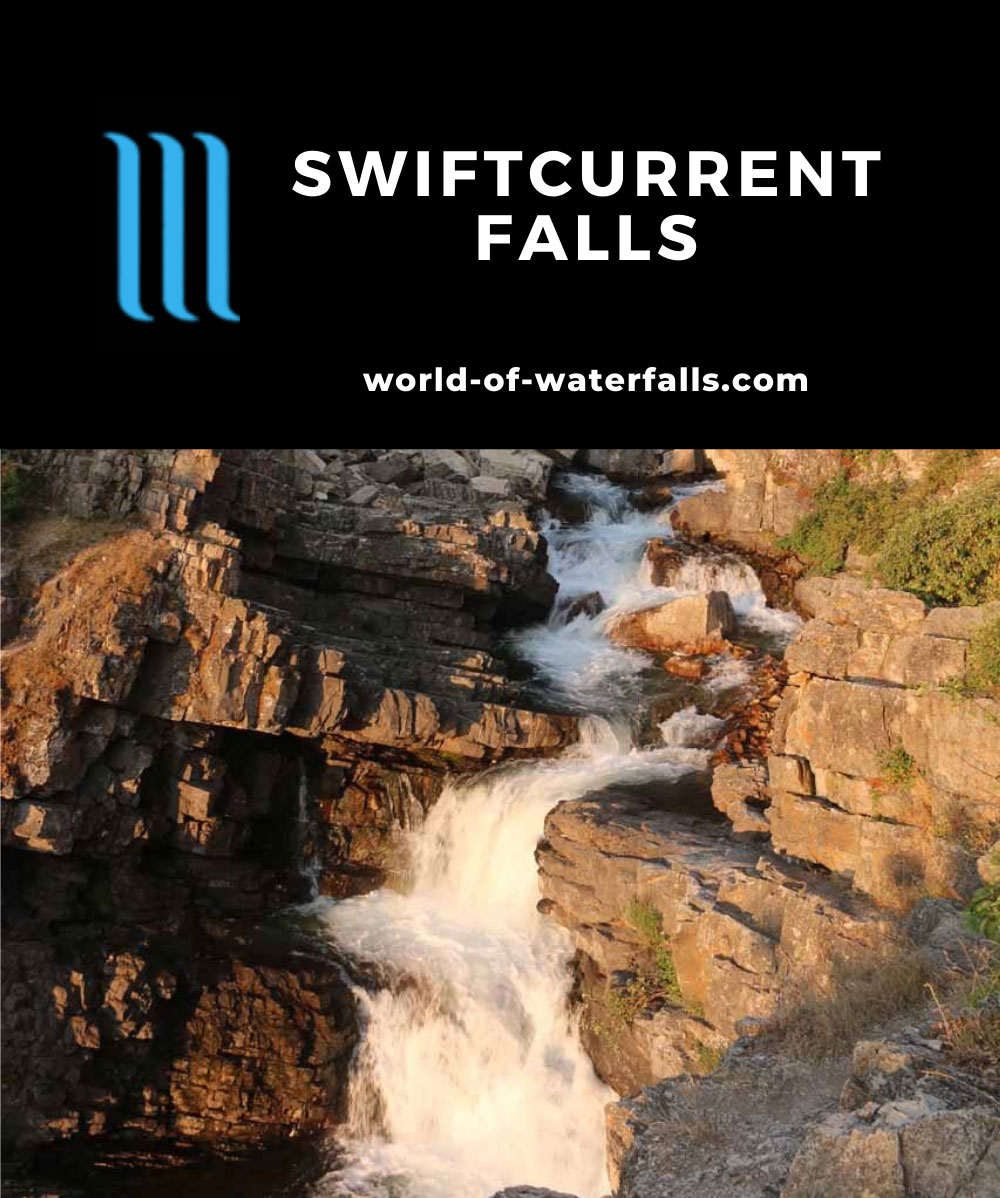 Swiftcurrent_Falls_022_08072017 - Swiftcurrent Falls backed by Mt Grinnell