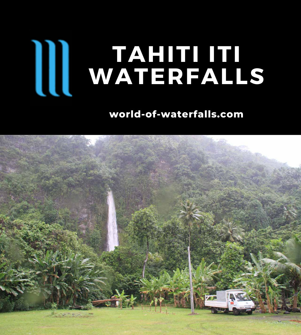 Tautira_Pueu_043_20121216 - Looking towards a gushing and attractive unnamed waterfall between the towns of Tautira and Pueu on Tahiti Iti