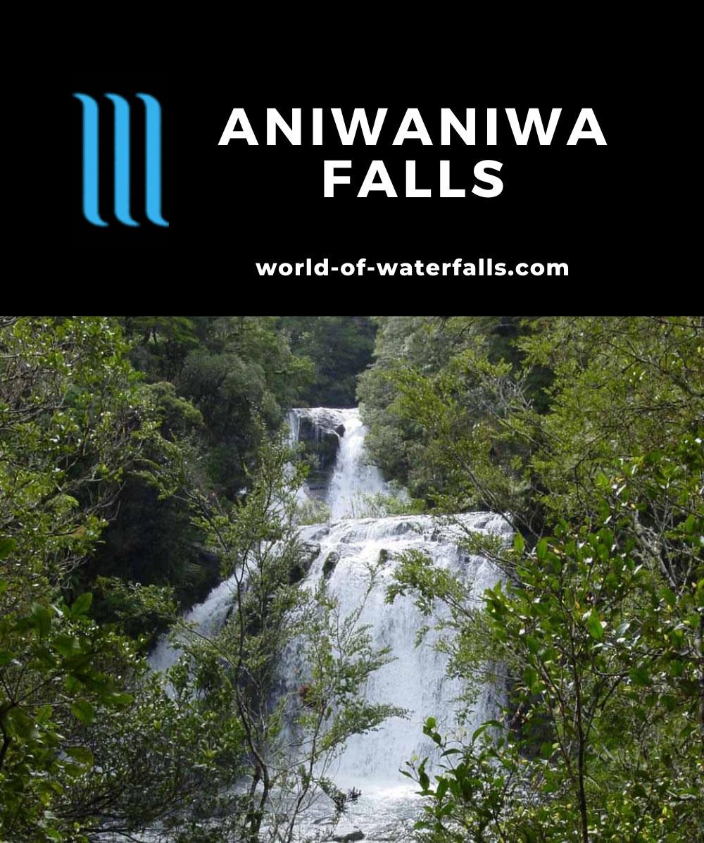 Te_Urewera_065_11142004 - Momahaki Falls and Te-Tangi-o-Hinerau, which were two of the three Aniwaniwa Falls