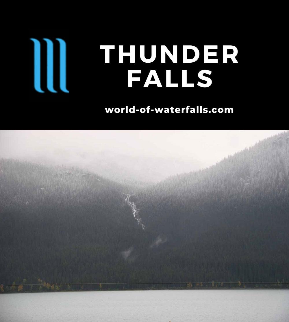 Thunder_Falls_006_09202010 - Looking across Moose Lake at Thunder Falls under some fresh snowfall