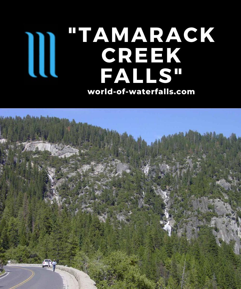 Upper_Cascades_006_04232004 - Tamarack Creek Falls on the left with the Upper Cascades on the right