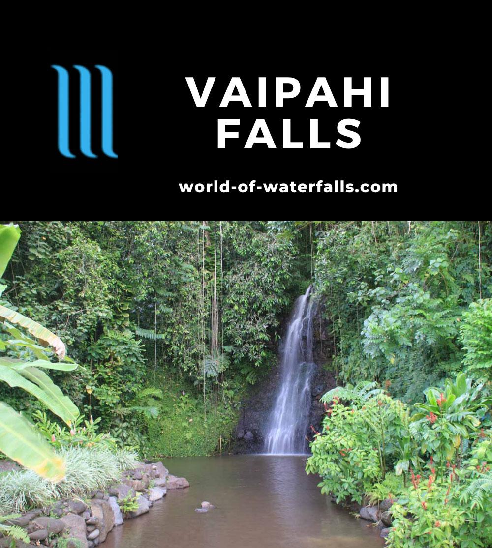 Vaipahi_Garden_025_20121215 - Vaipahi Falls within the Vaipahi Public Garden