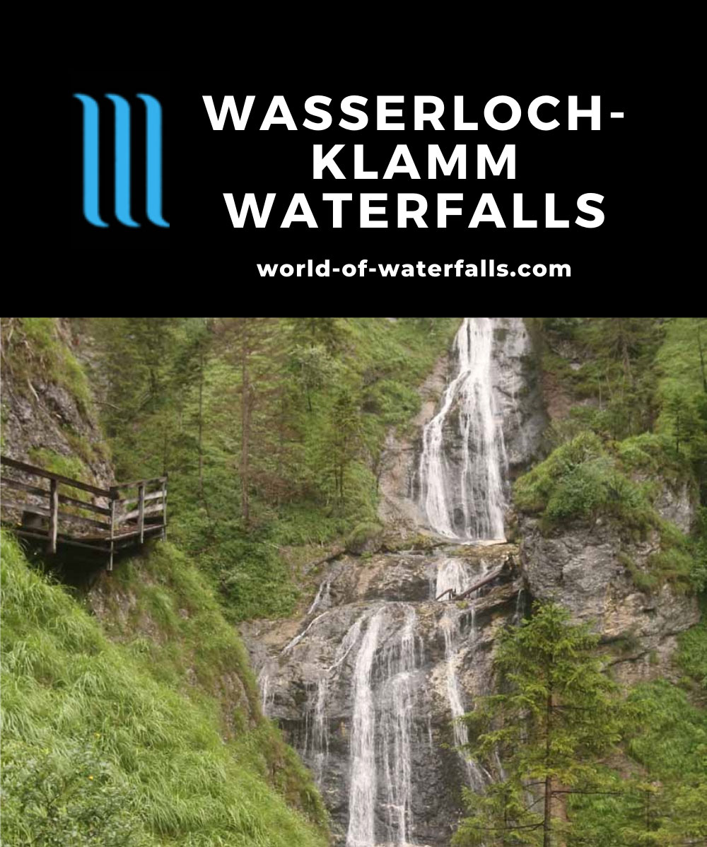 Wasserlochklamm_103_07062018 - Schleierfall, which was one of five signposted Wasserlochklamm Waterfalls