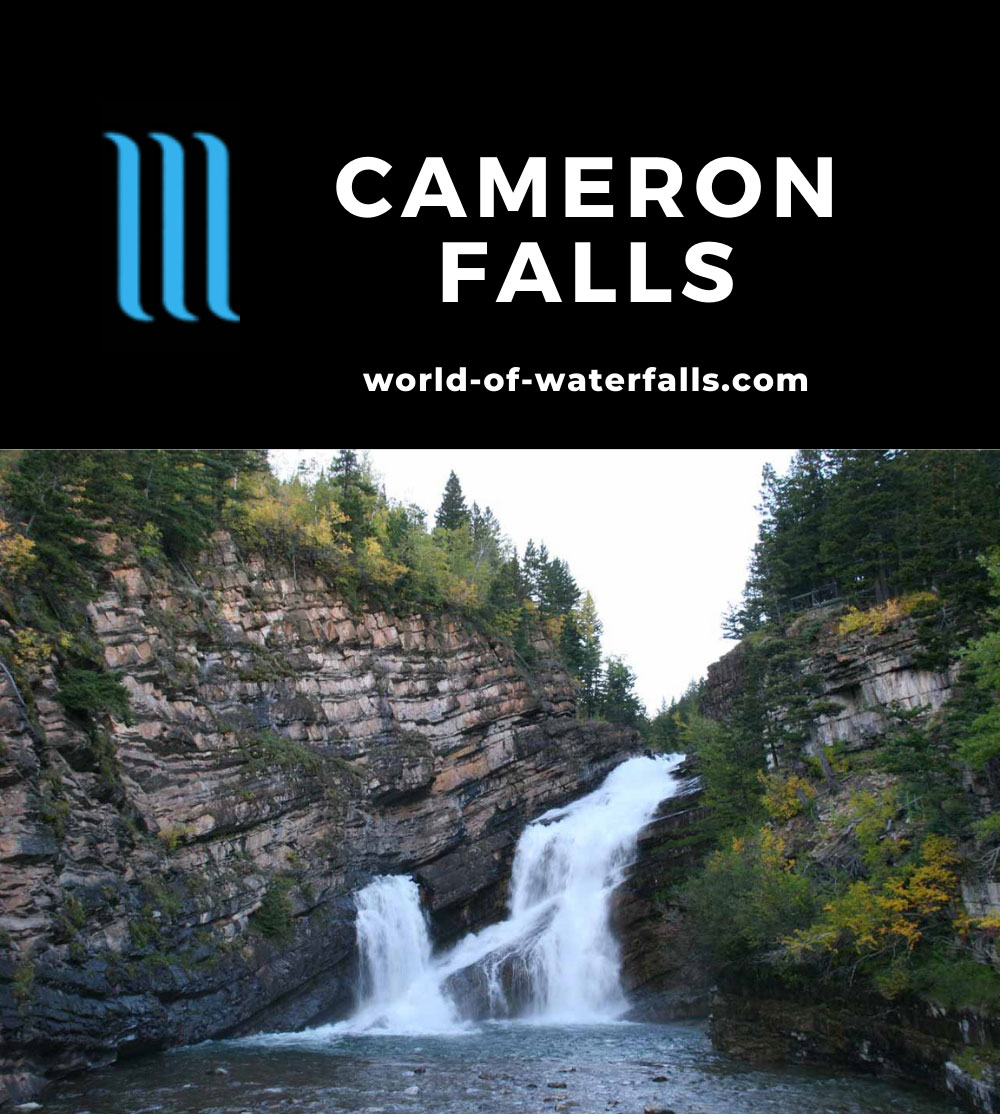 Waterton_019_09222010 - Cameron Falls in the late afternoon or early evening